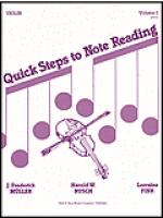 Quick Steps to Notereading, Vol 1, Violin Sheet Music