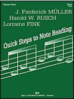 Quick Steps to Notereading, Vol 3, Viola Sheet Music