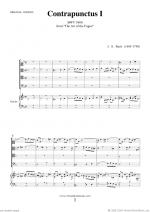 The Art of the Fugue, BWV 1080 - Contrapunctus I Sheet Music