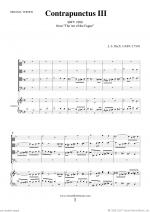 The Art of the Fugue, BWV 1080 - Contrapunctus III Sheet Music