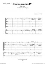 The Art of the Fugue, BWV 1080 - Contrapunctus IV Sheet Music