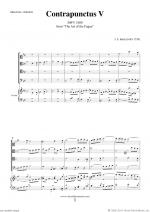 The Art of the Fugue, BWV 1080 - Contrapunctus V Sheet Music