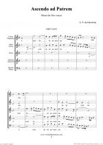 Ascendo ad Patrem (full score) Sheet Music