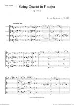 Quartet Op.18 No.1 in F major (ALL) Sheet Music