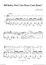Bill Bailey, Won't You Please Come Home? Sheet Music