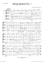 Quartet No.1 in A major (f.score) Sheet Music