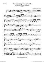 Brandenburg Concerto III (parts) Sheet Music