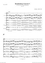 Brandenburg Concerto V (f.score) Sheet Music
