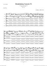 Brandenburg Concerto VI (f.score) Sheet Music