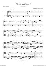 Canon in D & Gigue Sheet Music