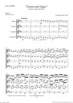 Canon in D & Gigue (f.score) Sheet Music