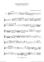 Canonic Sonatas, book I Sheet Music