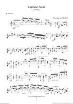 Capricho Arabe & Recuerdos de la Alhambra Sheet Music