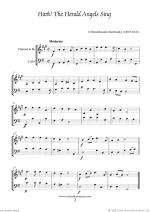 Christmas Sheet Music and Carols to download for clarinet & cello Sheet Music