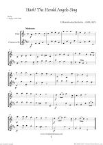 Christmas Sheet Music and Carols to download for flute & clarinet Sheet Music