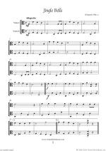 Christmas Sheet Music and Carols to download for two violas Sheet Music