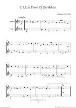Christmas Sheet Music and Carols to download for two violins Sheet Music