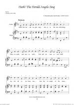 Christmas Sheet Music and Carols to download for violin & harp Sheet Music