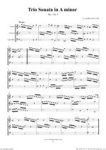 Trio Sonata in A minor Op.1 No.4 (f.score) Sheet Music