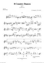 Country Dances, 8 - Op.8 Sheet Music