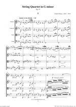 String Quartet in G minor Op.10 (f.score) Sheet Music