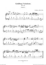 Goldberg Variations, part I Sheet Music