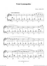 Trois Gymnopedies Sheet Music