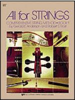 All For Strings Book 1-Cello Sheet Music