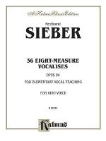 36 Eight-Measure Vocalises for Elementary Teaching Sheet Music