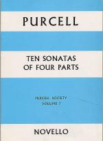 Purcell Society Volume 7 - 10 Sonatas Of Four Parts (Full Score) Sheet Music