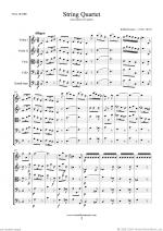 String Quartet (for quintet, f.score) Sheet Music