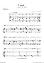Hornpipe from Water Music (in C, trumpet in Bb) Sheet Music