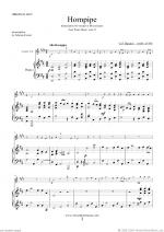 Hornpipe from Water Music (in D, trumpet in Bb) Sheet Music