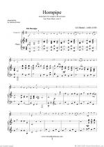 Hornpipe from Water Music (in C, trumpet in C) Sheet Music