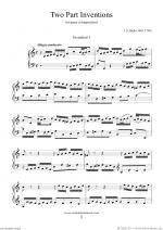 Two Part Inventions Sheet Music