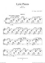 Lyric Pieces, Op.12 - book I Sheet Music
