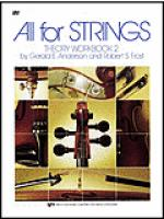 All For Strings Theory Workbook 2-Cello Sheet Music