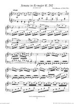 Sonata in Eb major K282 Sheet Music