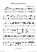 Theme and Variations K265 Sheet Music