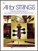 All For Strings Theory Workbook 2-Violin Sheet Music