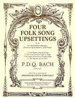Four Folk Song Upsettings Sheet Music