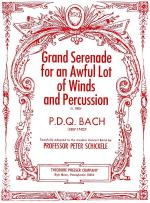 Grand Serenade for an Awful Lot of Winds and Percussion Sheet Music