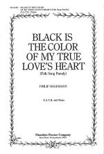 Black Is the Color of My True Love's Heart Sheet Music