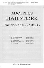 Five Short Choral Works 3. Crucifixion Sheet Music