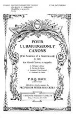 Four Curmudgeonly Canons Sheet Music