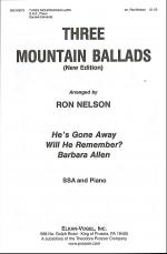 Three Mountain Ballads Sheet Music