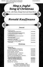 Sing A Joyful Song of Christmas Sheet Music
