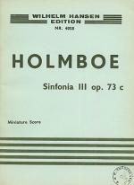 Holmboe: Sinfonia No.3 For Strings (Study Score) Sheet Music