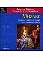 Mozart Selected Works For Piano (CD) Sheet Music