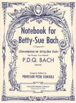 Notebook for Betty-Sue Bach Sheet Music